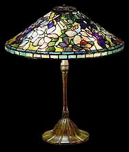"18"" Clematis Tiffany Lamp"