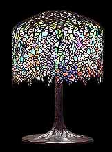 "18"" Wisteria Tiffany Lamp"
